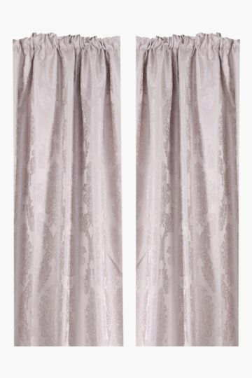 2 Pack 2 Tone Royal 230x218cm Taped Curtain