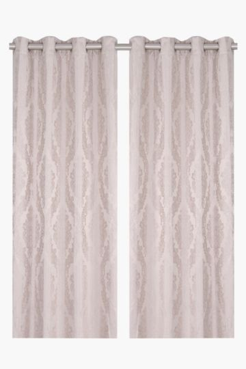 2 Pack 2 Tone Royal 145x225cm Eyelet Curtain