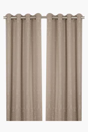 2 Pack Landon 140x225cm Eyelet Curtain