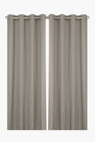 2 Pack Landon 140x225cm Eyelet Curtain