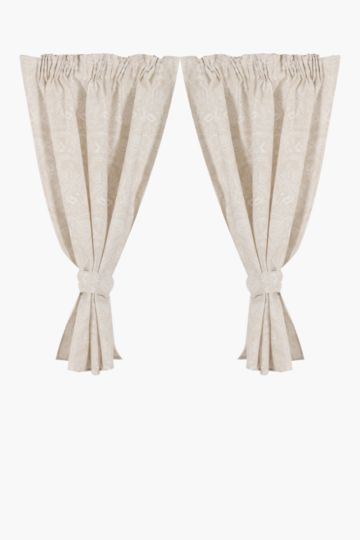 2 Pack Laurent 110x120cm Cafe Curtain