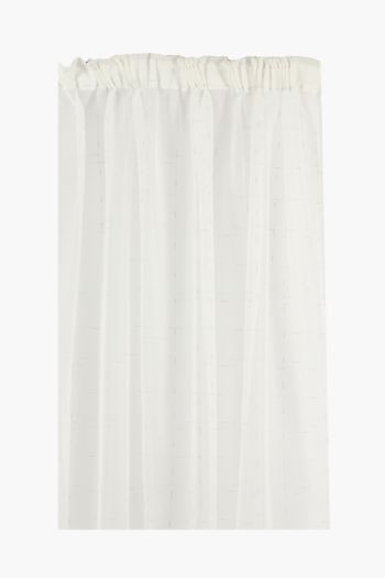 Sheer Lurex Glam Taped Curtain, 230x218cm