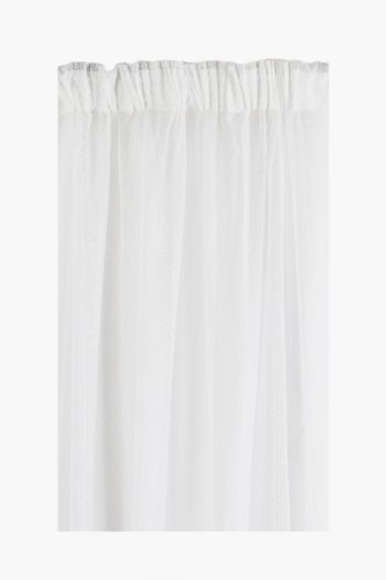 Decorative Stripe Lace Taped Curtain, 230x218cm