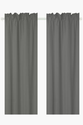 2 Pack Microfibre Taped Curtain, 150x218cm
