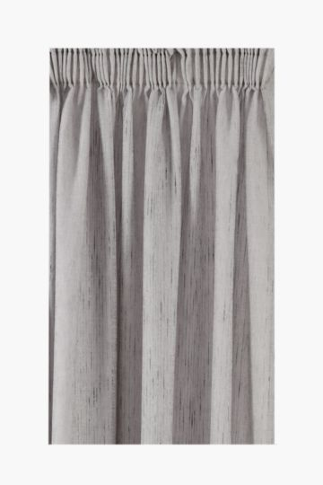 Lined Linen Look Sheer Taped Curtain, 230x218cm