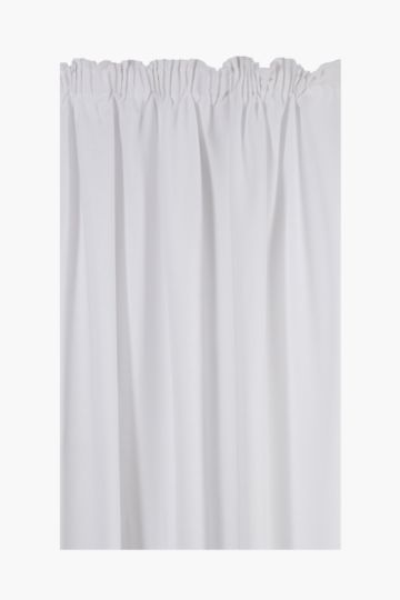 Plain Textured Weave Curtain, 290x218cm