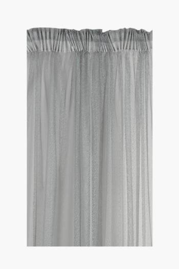 Sheer Lace Speckled Taped Curtain, 230x218cm