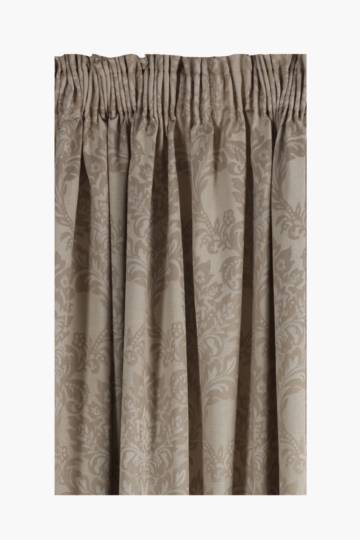 Jacquard Damask Taped Curtain, 270x218cm