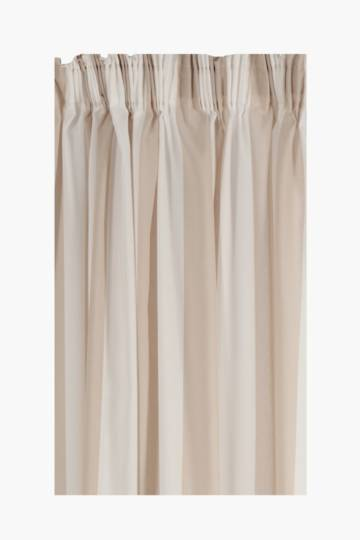 Sheer Broad Stripe Taped Curtain, 230x218cm