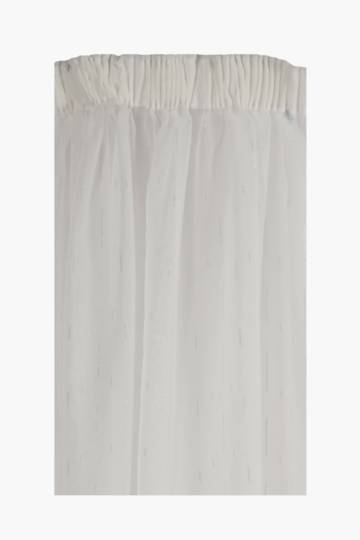 Sheer Lurex Taped Curtain, 230x218cm