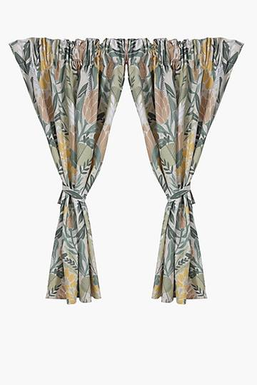 2 Pack Protea Embrace Cafe Curtain, 110x120cm