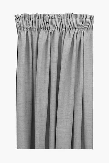 Textured Bronx Taped Curtain, 230x218cm