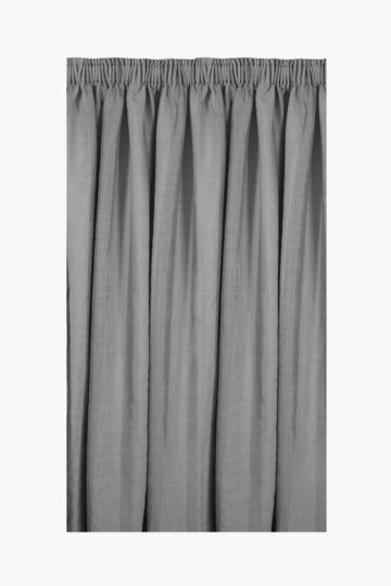 Tonal Linen Stripe Taped Curtain 230x218cm