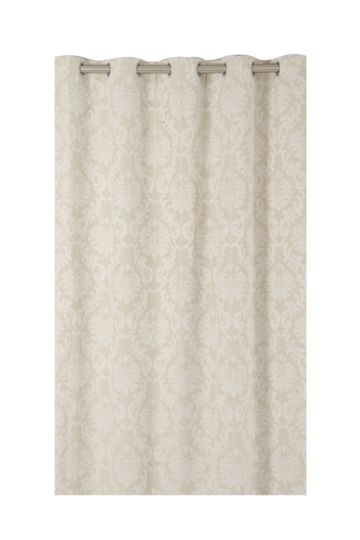 Textured Damask 225x225cm Eyelet Curtain