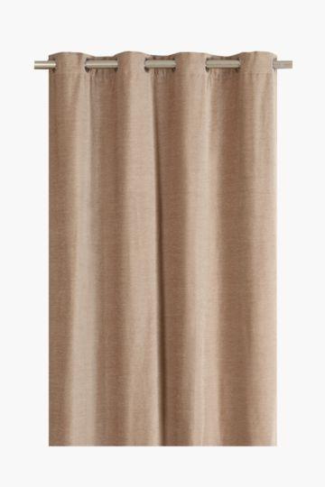 Chenille Melange 225x225cm Eyelet Curtain