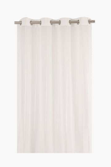Satin Linen Stripe 140x225cm Eyelet Curtain