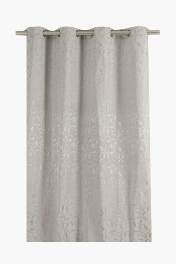 Leaf Scroll 140x225cm Eyelet Curtain