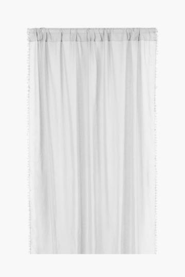 Sheer Pom Pom Taped Curtain, 140x218cm
