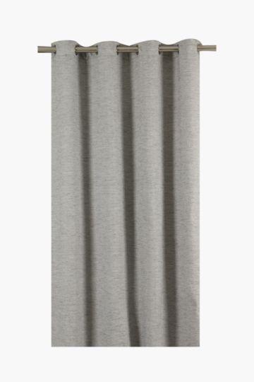 Block Slub Eyelet Curtain, 225x225cm