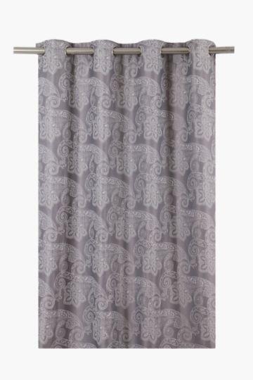 Satin Jacquard Eyelet Curtain 140x225cm