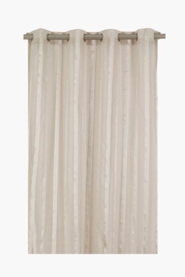 Sheer Herringbone Stripe Eyelet Curtain 145x225cm