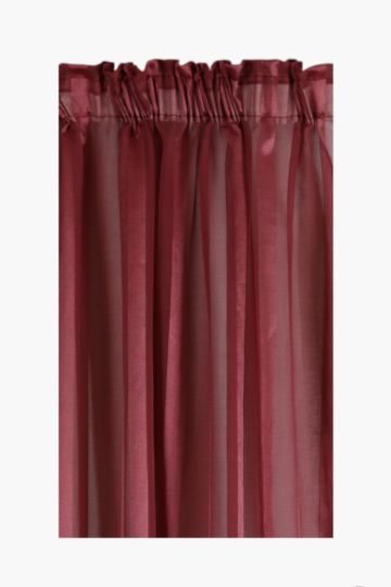 Sheer Herringbone Stripe Taped Curtain 230x250cm