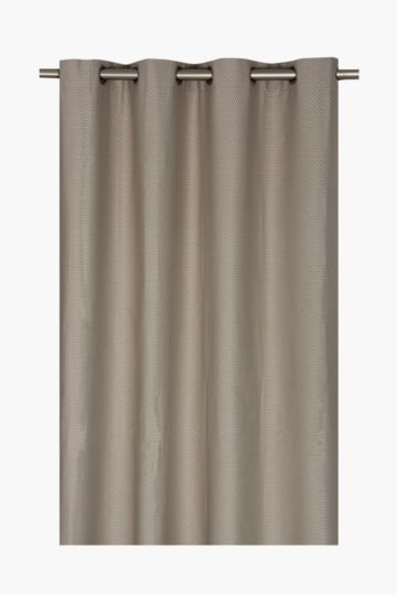 Basket Weave Eyelet Curtain, 225x225cm