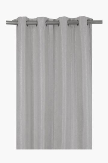 Textured Lux Block Out Eyelet Curtain, 145x225cm