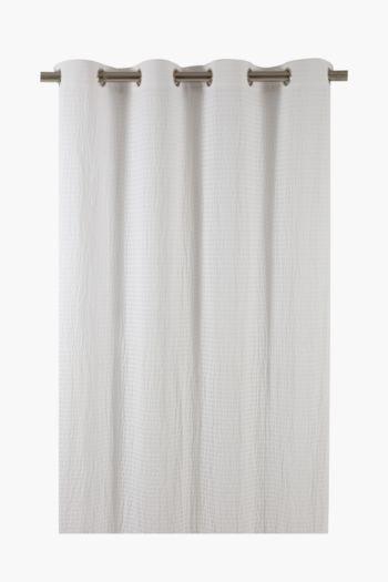 Seersucker Eyelet Curtain, 140x225cm