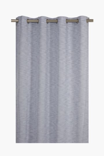 Sheer Denim Look Eyelet Curtain, 140x225cm