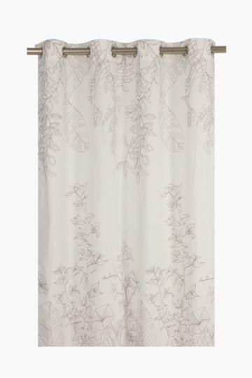 Paradise Print Eyelet Curtain, 140x225cm