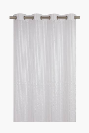 Modern Sheer Stripe Eyelet Curtain, 140x225cm