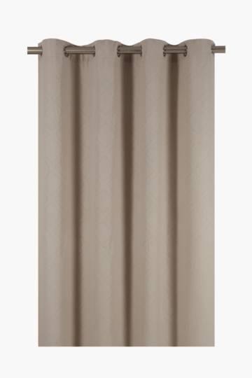 Waffle Weave Eyelet Curtain, 225x225cm