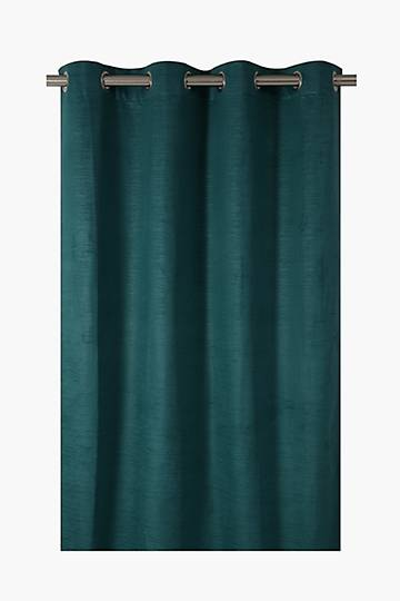 Embossed Velvet Eyelet Curtain, 135x225cm
