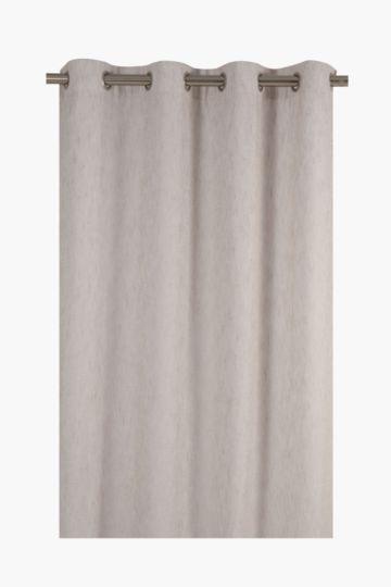 Sheer Linen Look Eyelet Curtain, 140x225cm