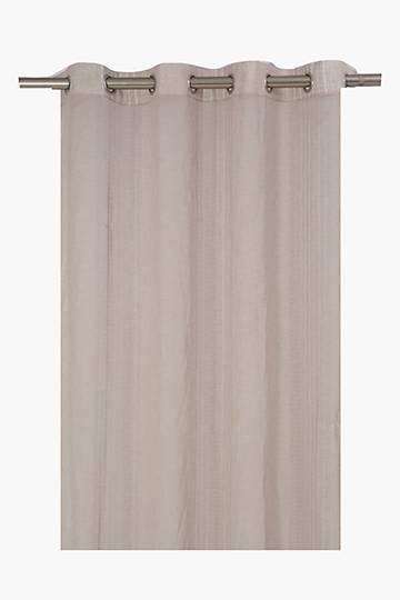 Sheer Stripe Eyelet Curtain, 140x225cm