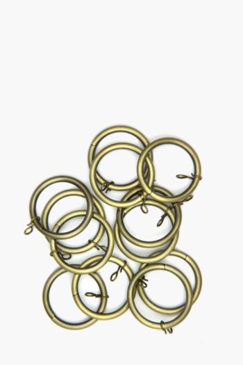 Antique Brass 12 Pack Rod Rings, 19mm