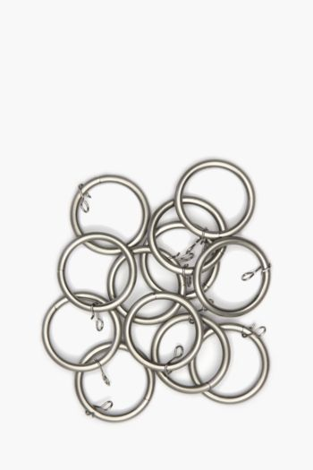 Brushed Metal 12 Pack Rod Rings, 19mm