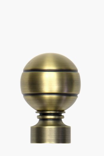 2 Pack Antique Brass Finial, 35mm