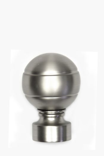 2 Pack Brushed Metal Ball Finial, 25mm