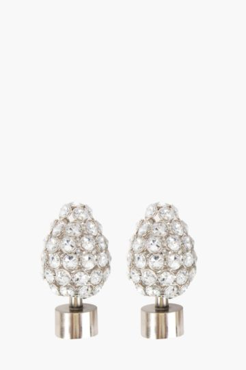 2 Pack Beaded Cone Shaped Finial