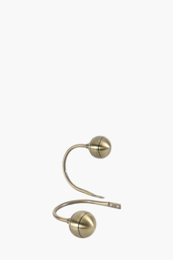2 Pack Antique Metal Ball Hold Back
