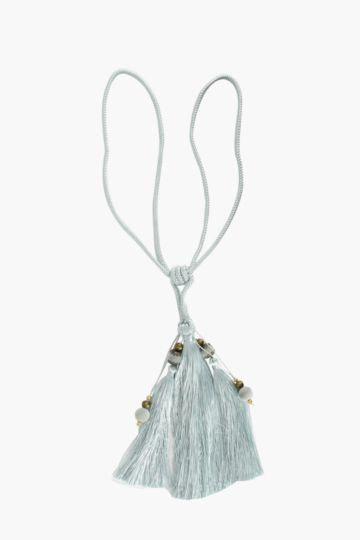 Boho Beaded Tassel Tie Back