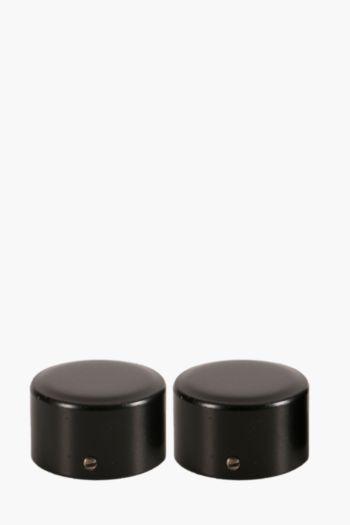 Satin Finish Rod End Caps, 35mm