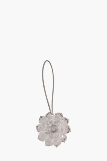 Crystal Flower Magnetic Hold Back