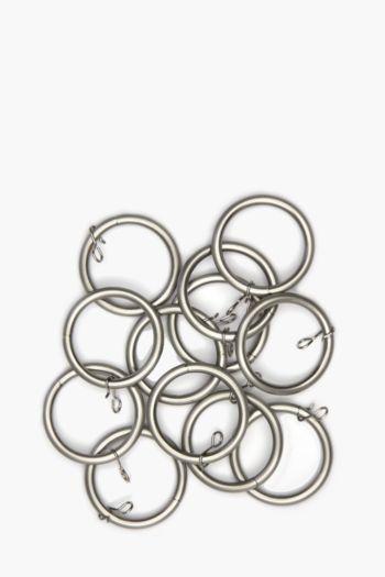 Brushed Metal 12 Pack Rod Rings, 25mm