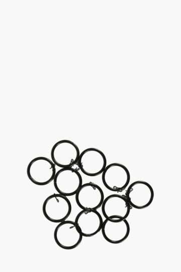 12 Pack Satin Finish Metal Rod Rings 35mm