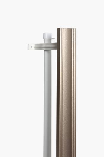 2m Metallic Wood Finish Double Curtain Track