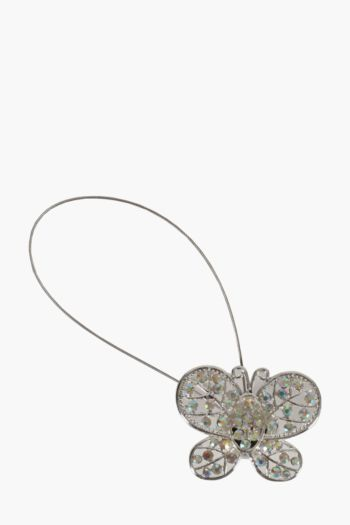 Diamante Butterfly Magnetic Hold Back