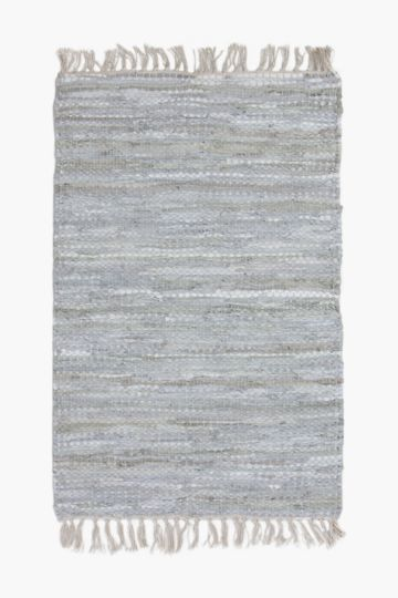 Leather Chindi 60x90cm Rug